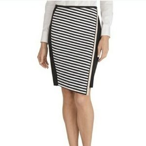 Dresses & Skirts - WHBM Asymmetrical Striped Ponte Skirt